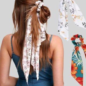 Accessories - Flower Print Hair Bow Scrunchy🌺